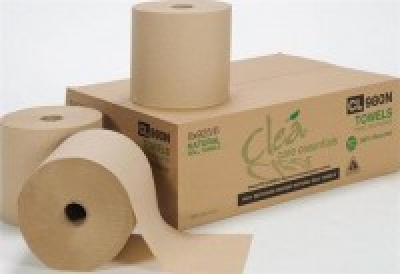 Clea Premium Natural Hard Wound Roll Towel