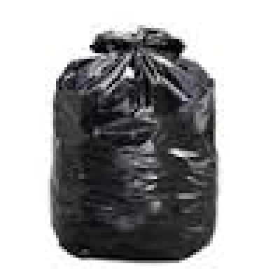 35''x 50'' X-Strong Black Oxodegradable Garbage Bags - 100/bx
